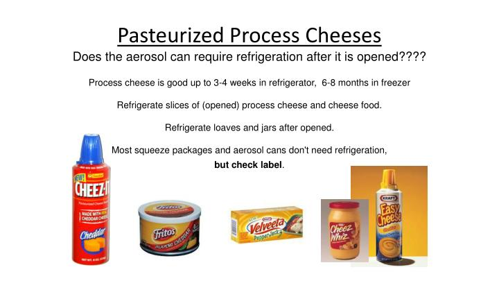 Pasteurized Process Cheeses
