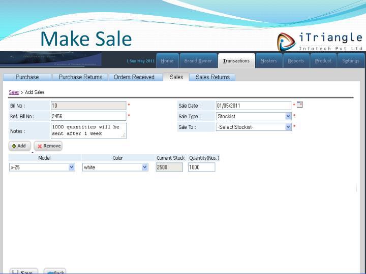 Make Sale