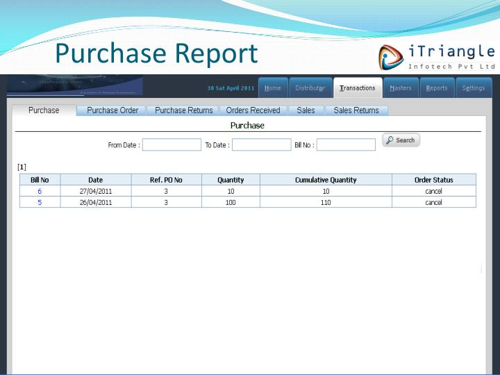 Purchase Report