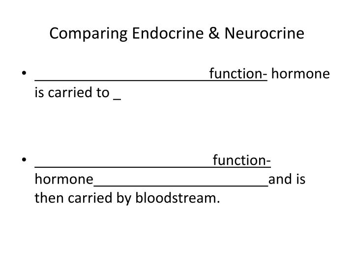 Comparing Endocrine