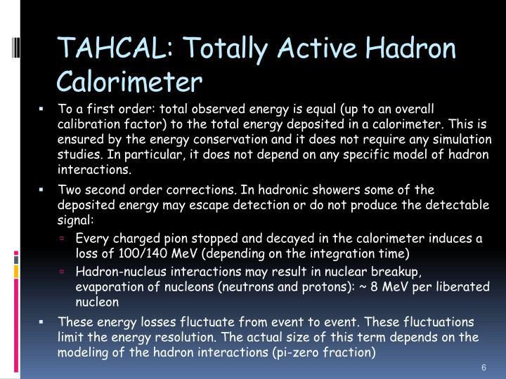 TAHCAL: Totally Active Hadron Calorimeter