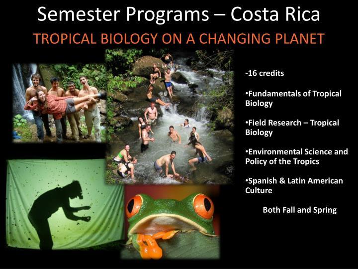 Semester Programs – Costa Rica