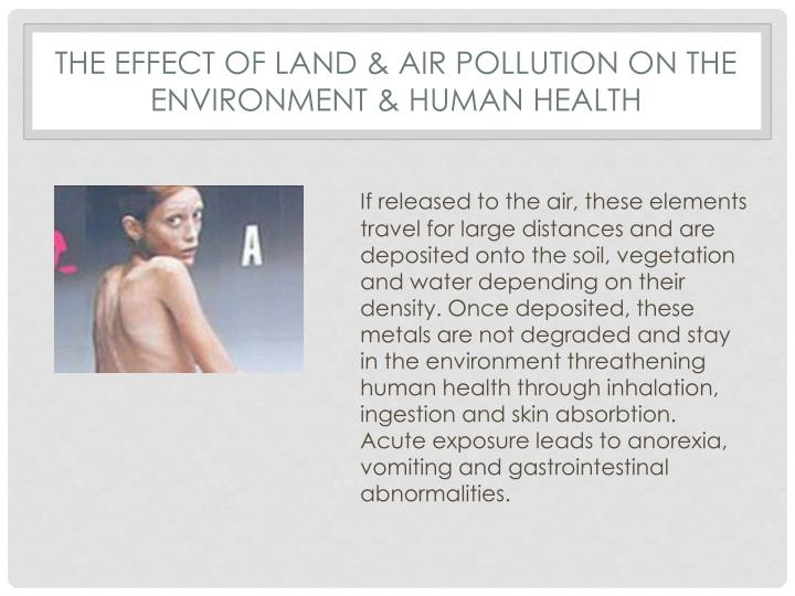 THE EFFECT OF land & AIR POLLUTION ON THE ENVIRONMENT & HUMAN HEALTH