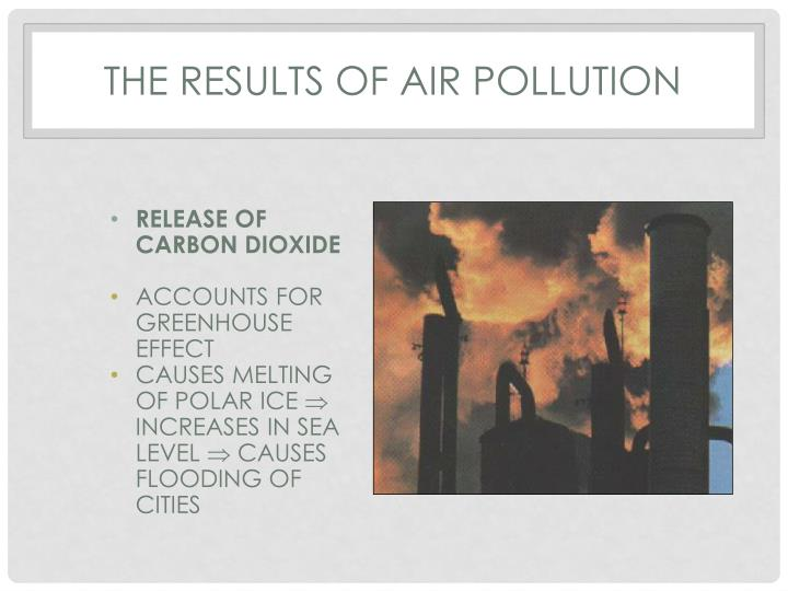 THE RESULTS OF AIR POLLUTION