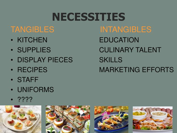 TANGIBLES                     INTANGIBLES