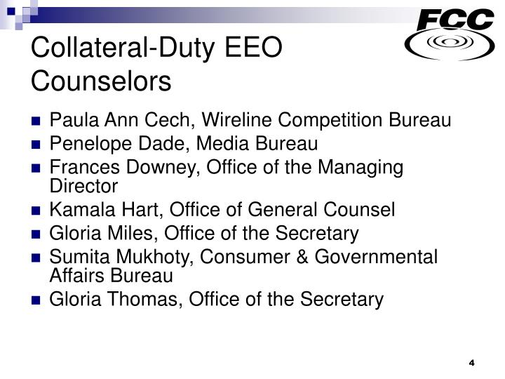 Collateral-Duty EEO