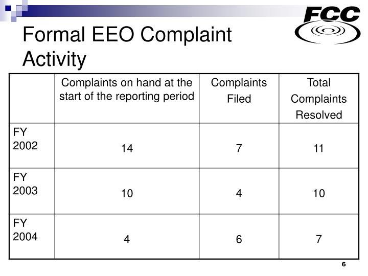 Formal EEO Complaint