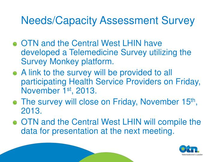 Needs/Capacity Assessment Survey