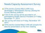 needs capacity assessment survey