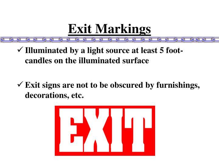 Exit Markings