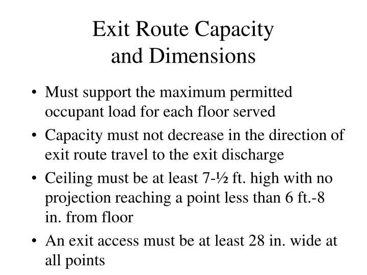 Exit Route Capacity