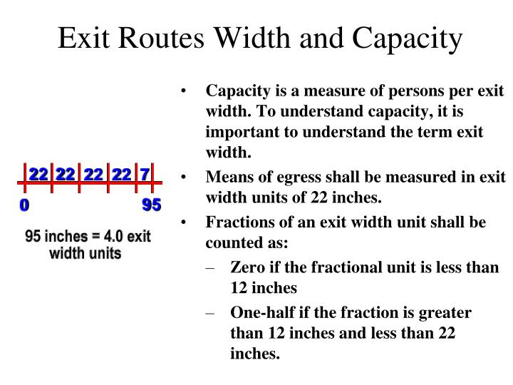 Exit Routes Width and Capacity