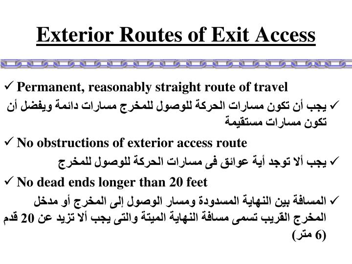 Exterior Routes of Exit Access