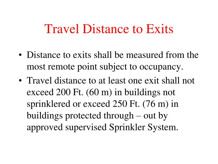 Travel Distance to Exits