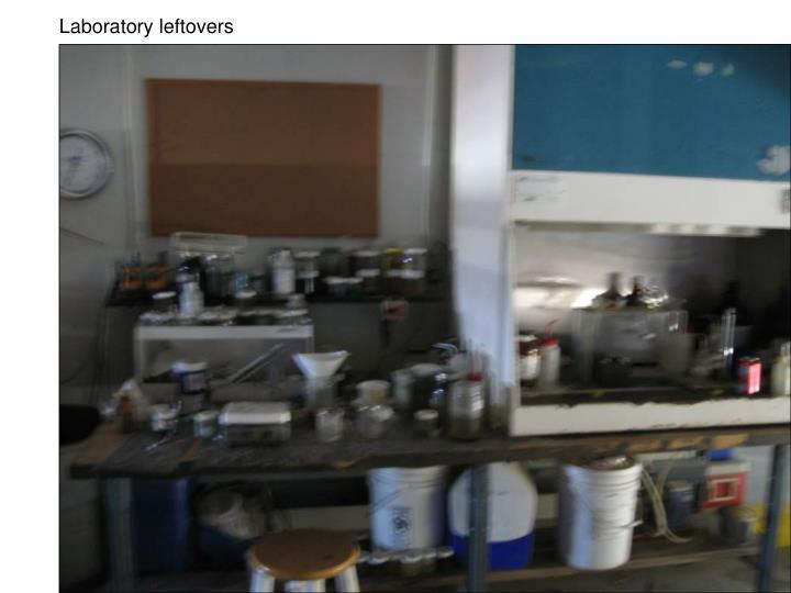 Laboratory leftovers