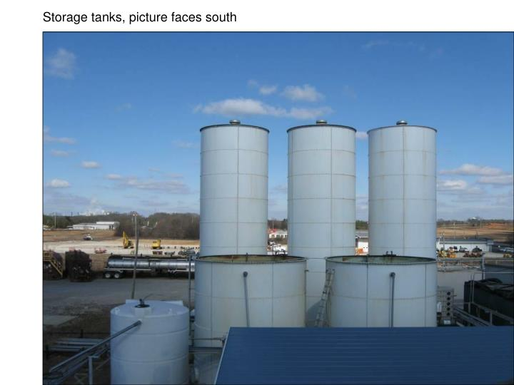 Storage tanks, picture faces south