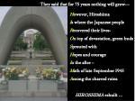 peace memorial and eternal flame