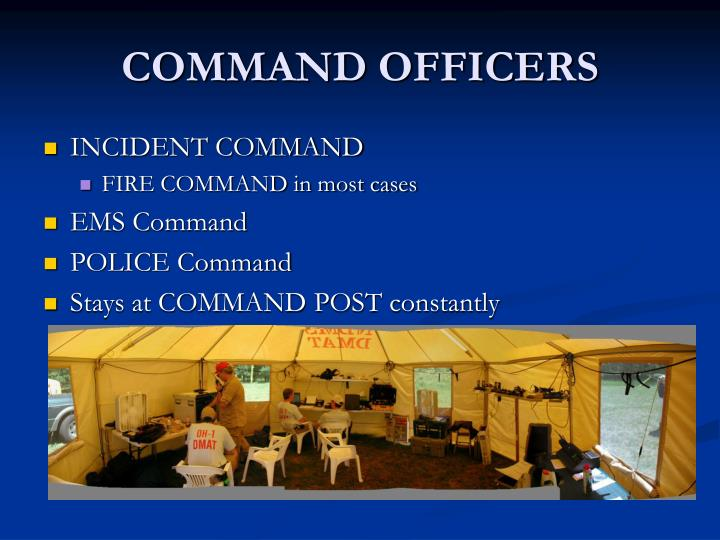 COMMAND OFFICERS