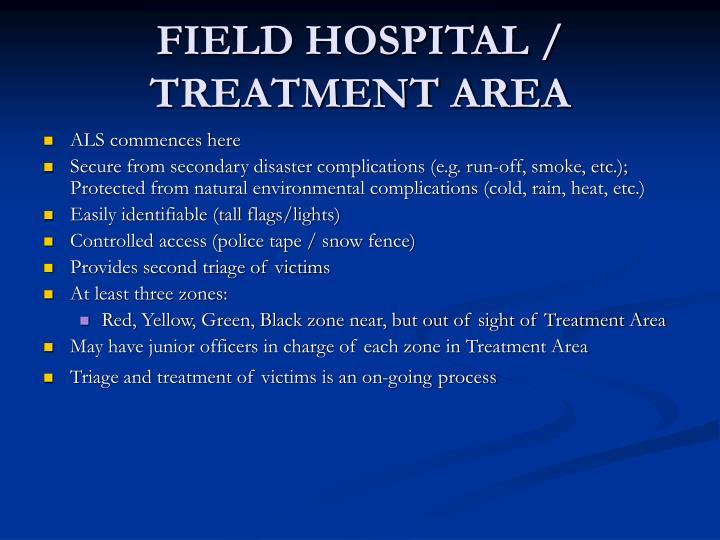 FIELD HOSPITAL / TREATMENT AREA