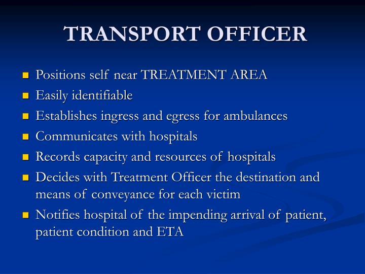 TRANSPORT OFFICER