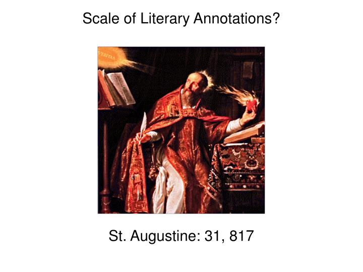 Scale of Literary Annotations?