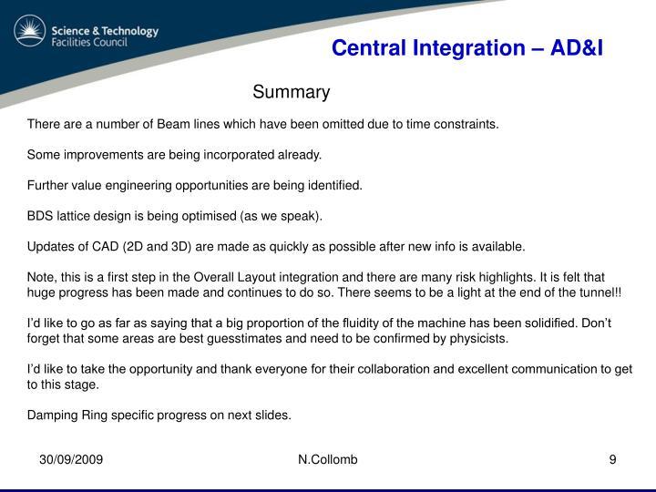 Central Integration –