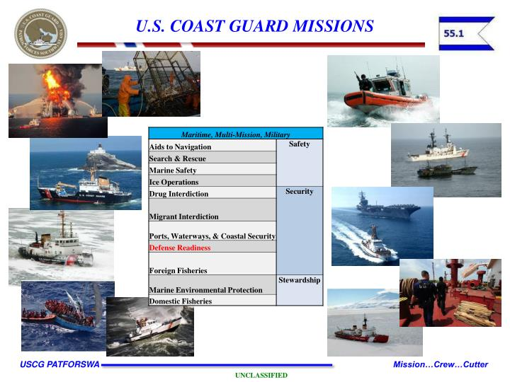 coast guard mission The afternoon mission's photographs enabled the coast guard to determine its efforts' success that day the bollard, which can break up to 12 inches of ice at a time without having to stop.
