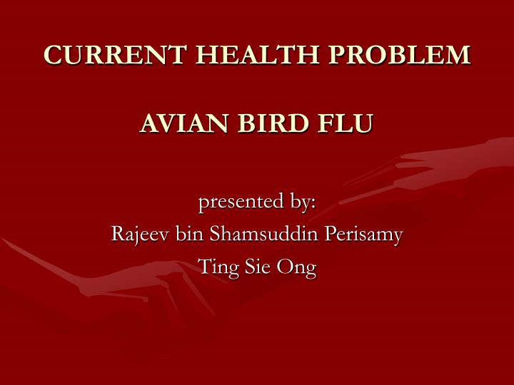 Current health problem avian bird flu