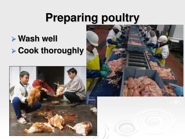 Preparing poultry