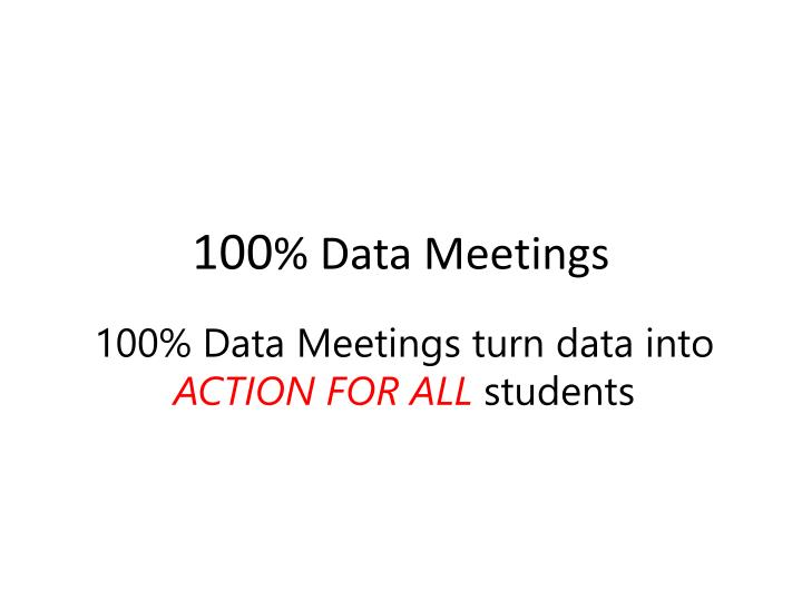 100 d ata meetings