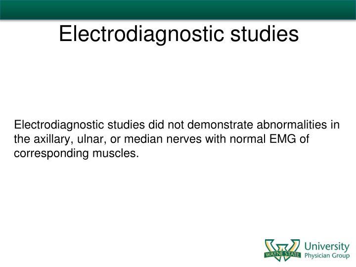 Electrodiagnostic studies