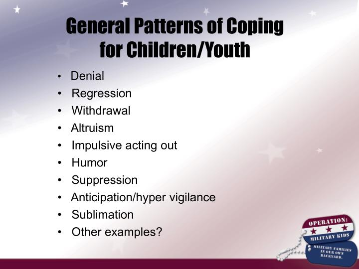 General Patterns of Coping