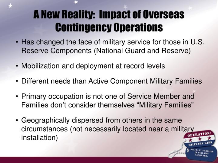 A New Reality:  Impact of Overseas Contingency Operations
