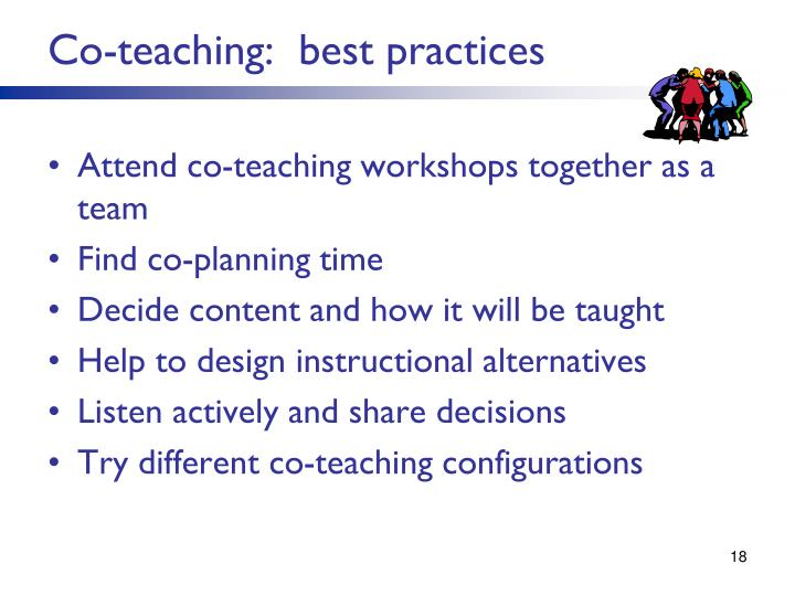 Co-teaching:  best practices