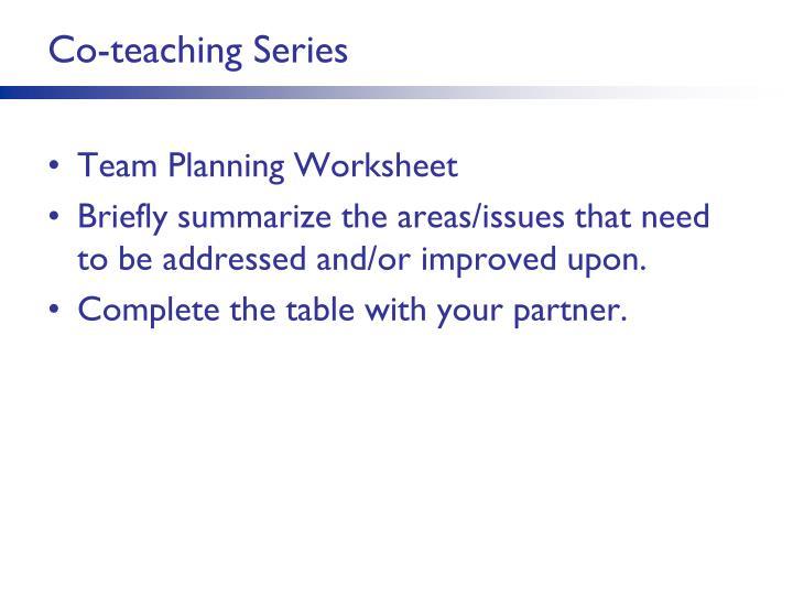 Co-teaching Series