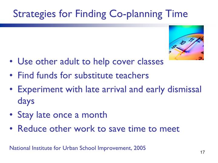 Strategies for Finding Co-planning Time