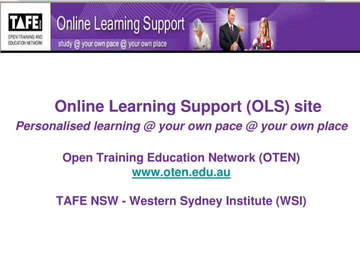 Online Learning Support (OLS) site