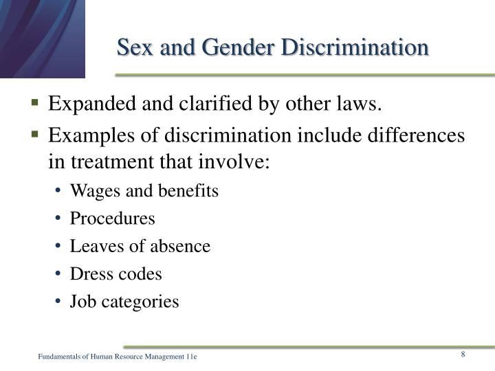 Sex and Gender Discrimination