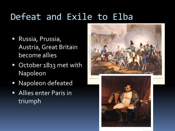 Defeat and Exile to Elba