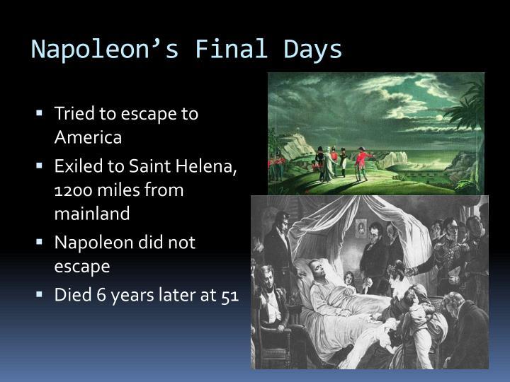 Napoleon's Final Days
