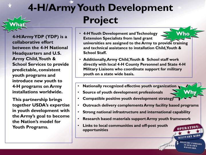 4-H/Army Youth Development Project