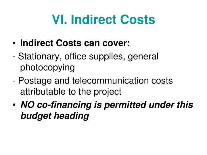 VI. Indirect Costs