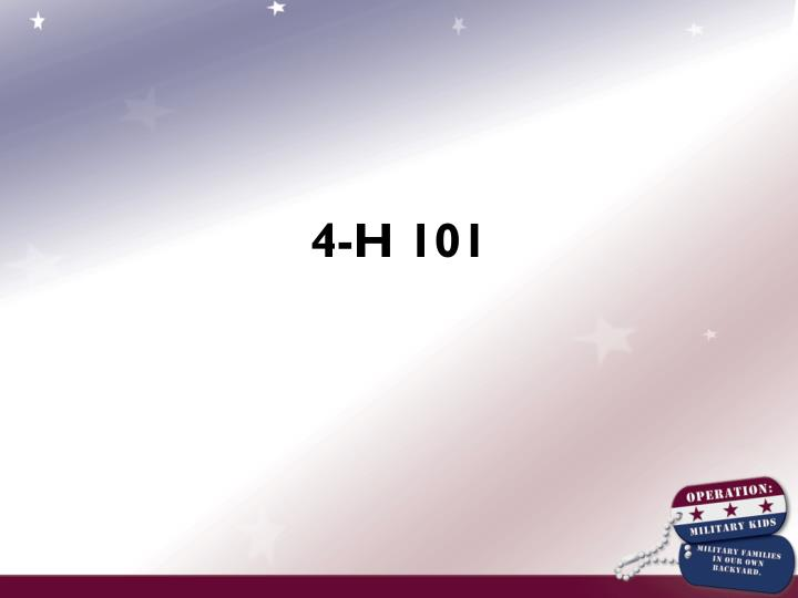 4-H 101
