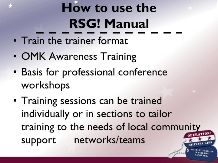 Train the trainer format