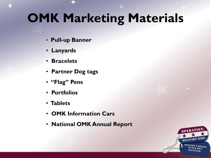 OMK Marketing Materials
