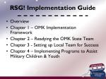 rsg implementation guide