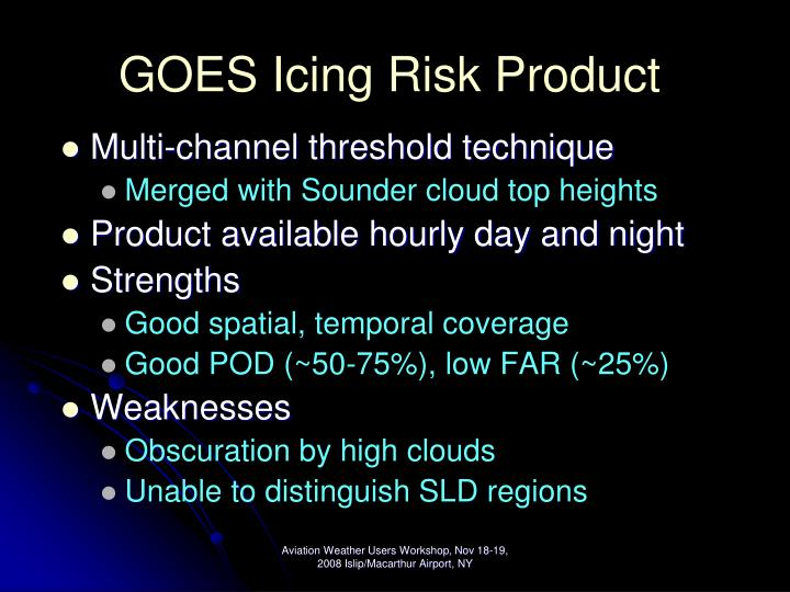 GOES Icing Risk Product