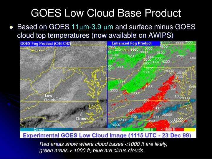 GOES Low Cloud Base Product