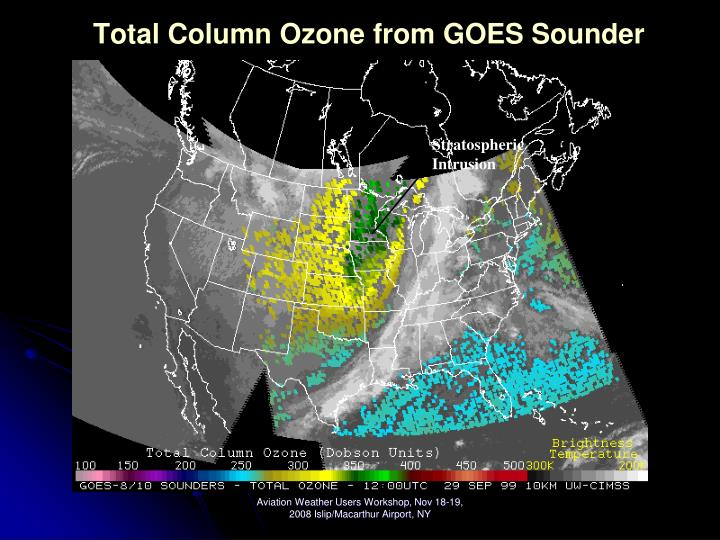Total Column Ozone from GOES Sounder