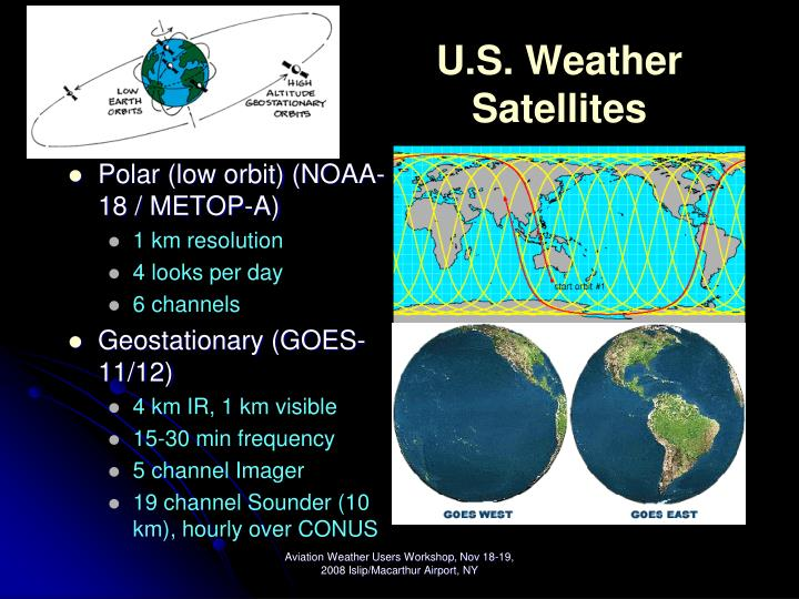 U s weather satellites